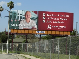 Ken on a billboard in 2012
