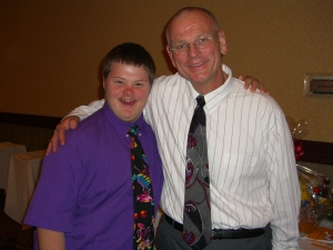 Ken with his very special football player Ryan Fish at the awards banquet, celebrating the 2006 La Serna Varsity Football Team