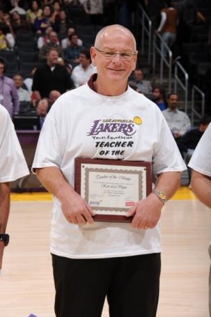 Ken was honored by the Los Angeles Lakers as a Teacher of the Month in 2013