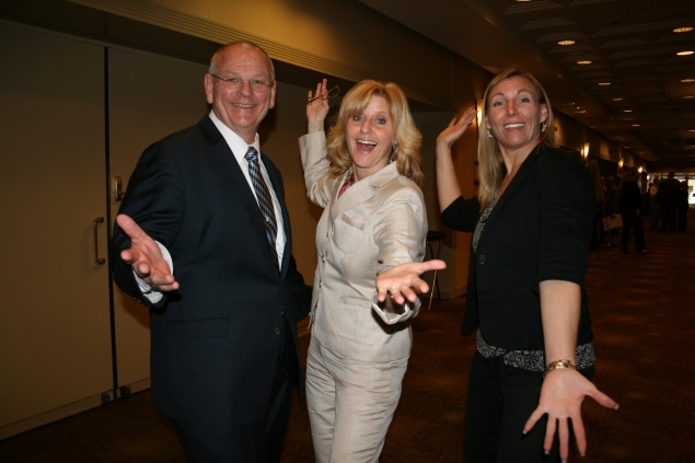 Ken with 2012 National Teacher of the Year Rebecca Mieliwocki and fellow California State Teacher of the Year Shari Ann Herout